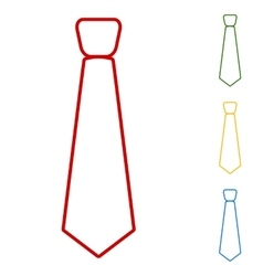 Tie Set of line icons vector