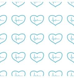Unique Heartbeat seamless pattern vector