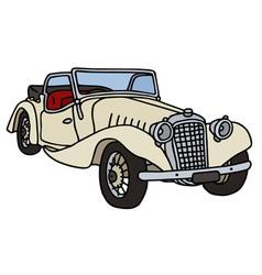 Vintage white cabriolet vector