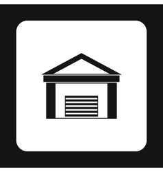 Warehouse building icon simple style vector