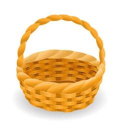Wicker basket icon symbol vector