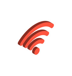 Wireless network isometric 3d icon vector