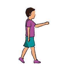 woman character walking people cartoon vector image