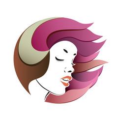 woman s face portrait vector image