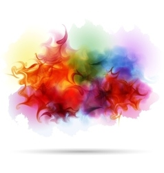 Abstract splash colorful smoke background vector image