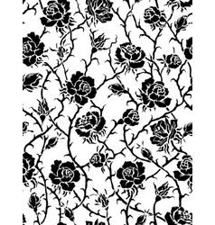 black roses seamless pattern vector image
