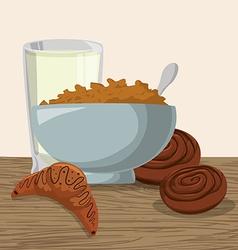Breakfast design vector image vector image