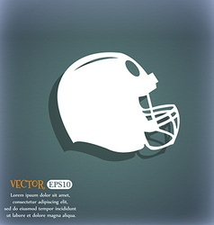 football helmet icon On the blue-green abstract vector image vector image