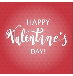 Happy Valentine s Day Hand Drawing Background With vector image vector image