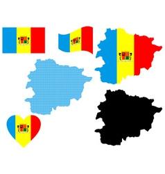 map of Andorra vector image