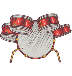 monkey and drums vector image vector image