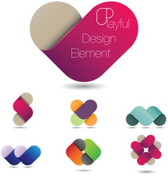 Playful Design Element vector image vector image