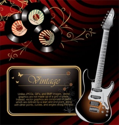 retro rock music background vector image