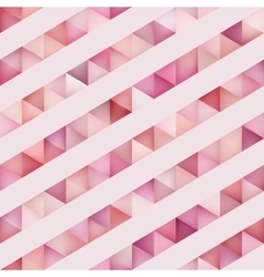 Seamless Multicolor Triangles And Diagonal vector image vector image