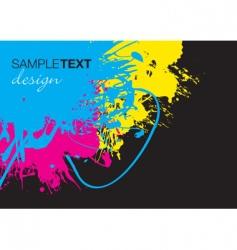splash corner vector image vector image