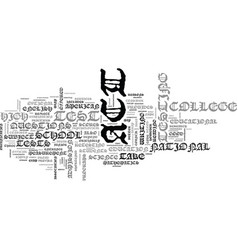what you should know about act text word cloud vector image