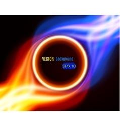 Abstract burning fire circle vector image