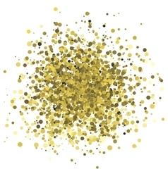 Abstract of random golden dots vector image vector image