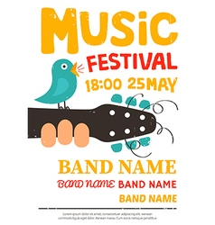 Acoustic music festival poster vector image