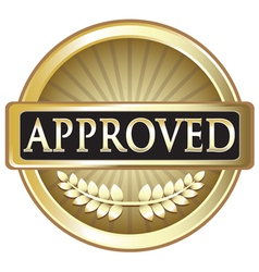 Approved Pure Gold Award vector image