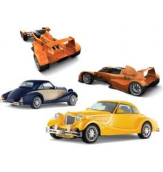 auto models vector image vector image
