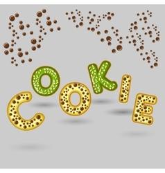 cookie logo design 3d letters vector image vector image