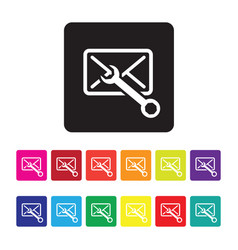 email configuration icon set vector image vector image