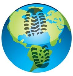 global footprint vector image vector image