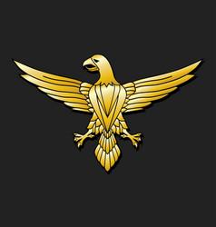 golden eagle - emblem vector image