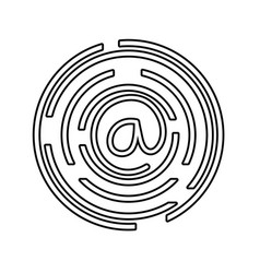line at symbol of web addres to internet vector image