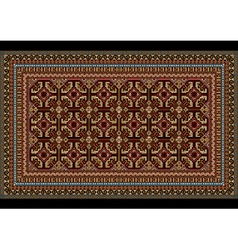 Ornament for an old carpet in red and maroon hues vector