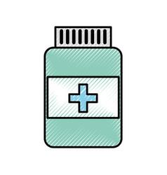 Scribble pill bottle vector