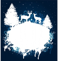 winter forest grunge paint design vector image