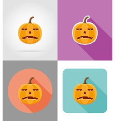 halloween flat icons 03 vector image vector image