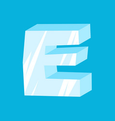 letter e ice font icicles alphabet freeze vector image