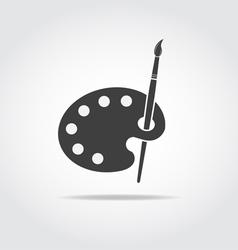 Palette Art Brush Black Icon vector image vector image