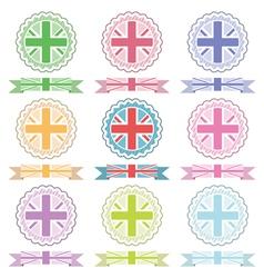 uk ribbons and emblems vector image