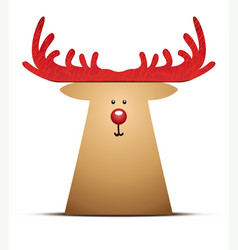 A reindeer christmas decoration element vector