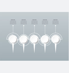 abstract 3d infographic template with a five vector image