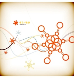 Abstract colorful minimal Christmas card vector image