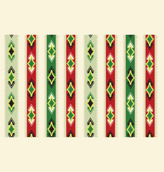 abstract ethnic ikat seamless pattern geometric vector image
