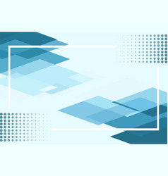 abstract geometric blue and white color vector image