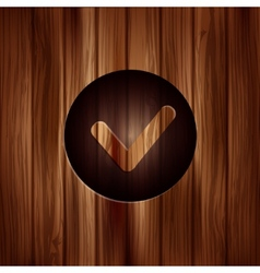 Accepr icon Yes ok symbol vector image