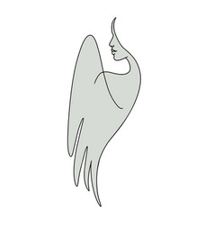 Angel with abstract female face vector