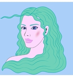 Aquarius beautiful girl portrait vector image