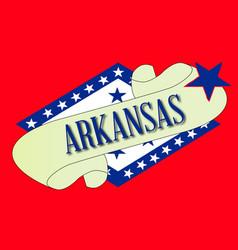 Arkansas scroll vector