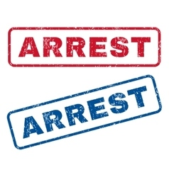 Arrest Rubber Stamps vector image