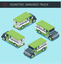 Bank armored truck vector
