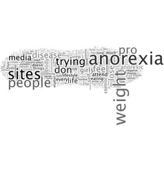 Behind pro anorexia sites vector