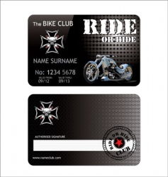 biker club card vector image